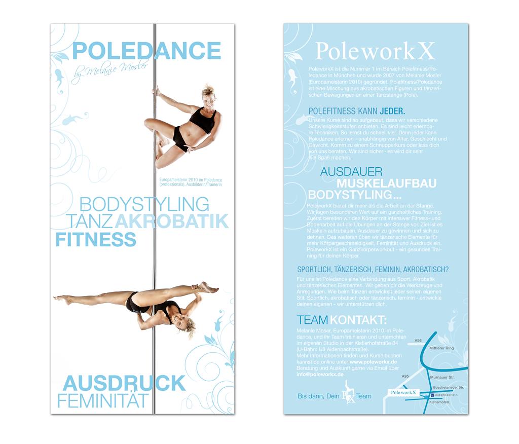 Flyer Werbung Poleworkx von Daniela Franz